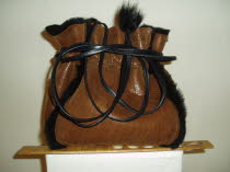 Sheepskin Dolly Bag with a 12 inch ruler
